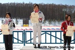 第86回全日本スキー選手権大会クロスカントリー競技最終日女子パシュート表彰