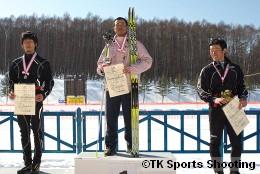 第86回全日本スキー選手権大会クロスカントリー競技最終日男子パシュート表彰