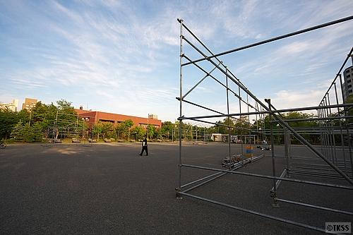 祭りの準備@中島公園