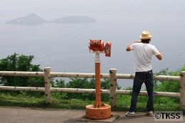 サイロ展望台から洞爺湖を望む