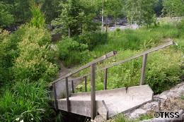 蟠渓温泉オサル湯への階段