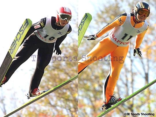 第2回伊藤杯サマーファイナル大倉山ジャンプ大会 2位:渡瀬あゆみ 3位:伊藤有希