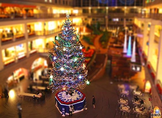 ミニチュア風サッポロファクトリーのクリスマスツリー