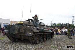 74式戦車の可動デモ