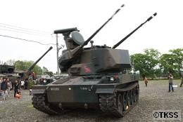 87式自走高射機関砲の可動デモ