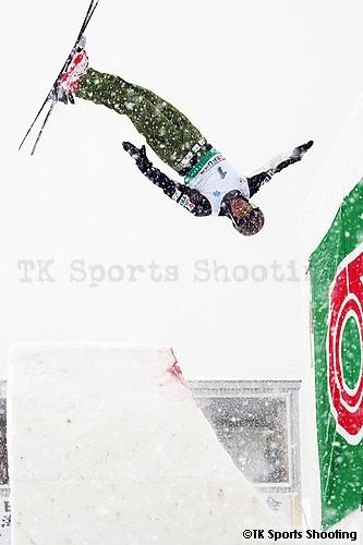 第29回全日本スキー選手権大会フリースタイル競技エアリアル種目 男子1位:倉田孝太郎