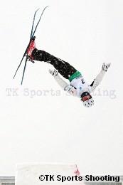 第29回全日本スキー選手権大会フリースタイル競技エアリアル種目 男子2位:田原直哉