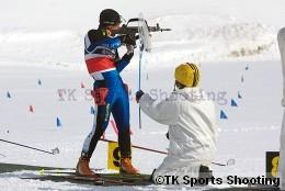 第80回宮様スキー大会国際競技会バイアスロン競技1日目