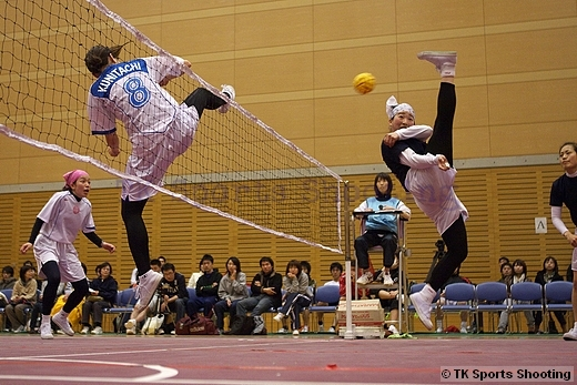 第12回北海道セパタクローオープン選手権大会 女子決勝戦 くにたちA 対 くにたちB