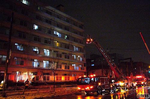 近所の火事