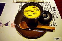 <お凌ぎ>比内地鶏の豆乳茶碗蒸し